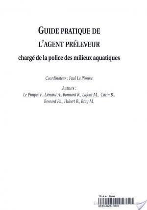 Affiche Guide pratique de l'agent préleveur chargé de la police des milieux aquatiques