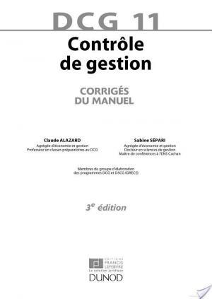 Affiche DCG 11 - Contrôle de gestion - 3e édition