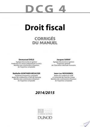 Affiche DCG 4 - Droit fiscal 2014/2015 - 8e édition