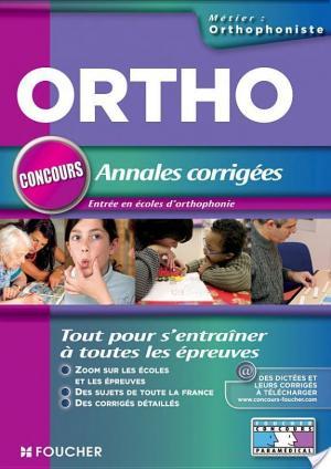 Affiche Ortho concours Annales corrigées entrée en école d'orthophoniste