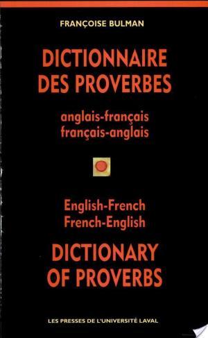 Affiche Dictionnaire des proverbes anglais-français, français-anglais
