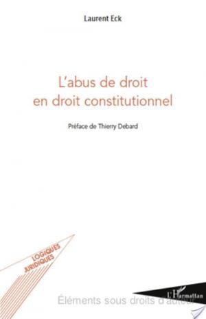Affiche L'abus de droit en droit constitutionnel