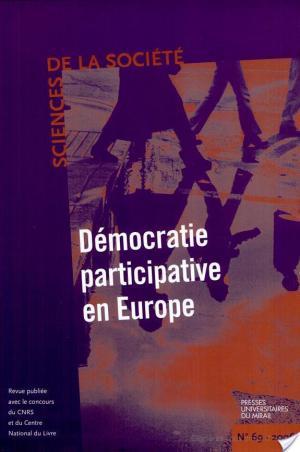 Affiche Démocratie participative en Europe
