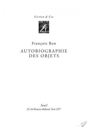 Affiche Autobiographie des objets
