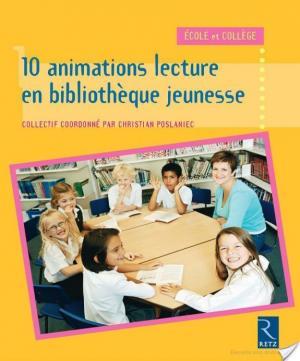 Affiche 10 animations lecture en bibliothèque jeunesse