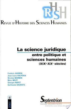 Affiche La science juridique entre politique et sciences humaines, XIXe-XXe siècles