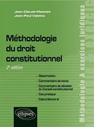 Affiche Méthodologie du Droit Constitutionnel