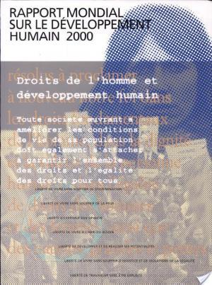 Affiche Rapport mondial sur le développement humain 2000