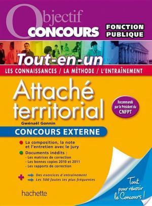 Affiche Objectif Concours Attaché Territorial, Concours externe