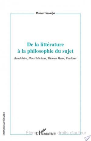 Affiche De la littérature à la philosophie du sujet