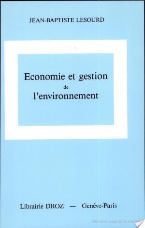 Affiche Economie et gestion de l'environnement