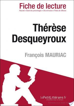 Affiche Thérèse Desqueyroux de François Mauriac (Fiche de lecture)
