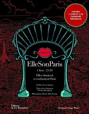Affiche Ellesonparis. Elles chantent Paris - 20 artistes interprètent 20 arrondissements (2CD audio)