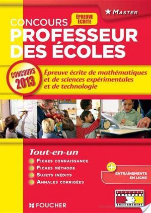 Affiche Epreuve écrite de mathématiques et de sciences expérimentales et de technologie Concours 2013