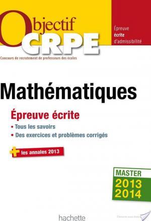 Affiche Objectif CRPE Épreuve écrite de mathématiques