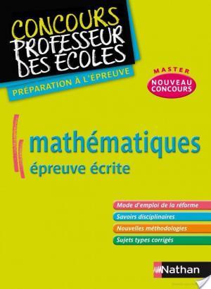 Affiche Mathématiques - Épreuve écrite