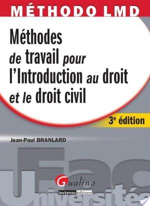 Affiche Méthodes de travail pour l'introduction au droit et le droit civil