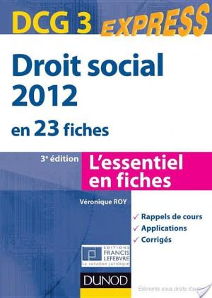 Affiche Droit social 2012 - DCG 3 - 3e édition - en 23 fiches