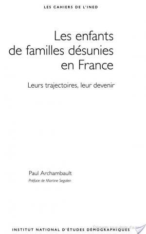 Affiche Les enfants de familles désunies en France