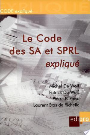 Affiche Code des SA et SPRL expliqué