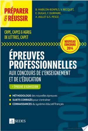 Affiche Préparer et réussir les épreuves professionnelles aux concours de l'enseignement et de l'éducation