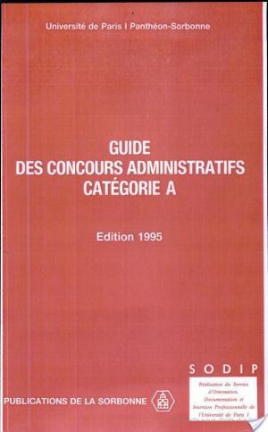 Affiche Guide des concours administratifs, catégorie A