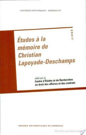Affiche Études à la mémoire de Christian Lapoyade-Deschamps