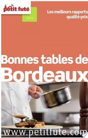 Affiche Bonnes tables de Bordeaux 2015 Petit Futé