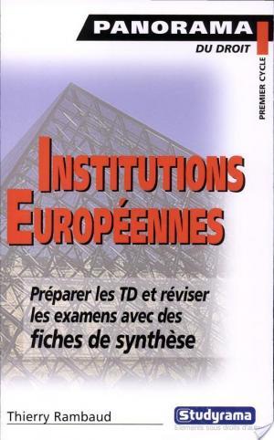 Affiche Institutions européennes et principes généraux de droit européen