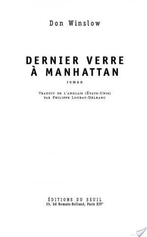 Affiche Dernier Verre à Manhattan