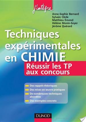 Affiche Techniques expérimentales en Chimie - Réussir les TP aux concours
