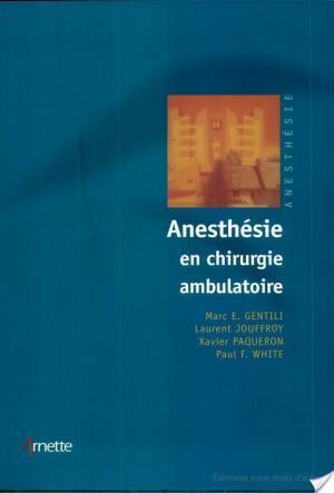 Affiche Anesthésie en chirurgie ambulatoire