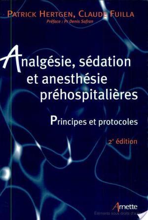 Affiche Analgésie, sédation et anesthésie préhospitalières