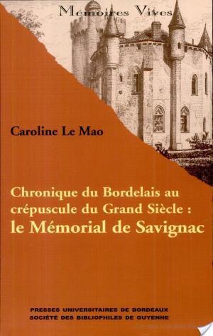 Affiche Chronique du bordelais au crépuscule du grand siècle