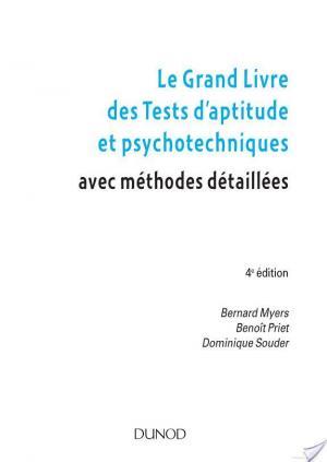 Affiche Le grand livre des tests d'aptitude et psychotechniques - 4e ed