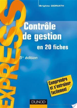 Affiche Contrôle de gestion - 5ème édition - en 21 fiches