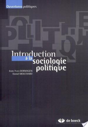 Affiche Introduction à la sociologie politique