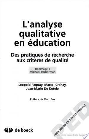 Affiche L'analyse qualitative en éducation
