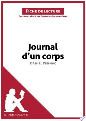 Affiche Journal d'un corps de Daniel Pennac (Fiche de lecture)