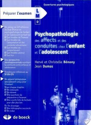 Affiche Psychopathologie des affects et des conduites chez l'enfant et l'adolescent