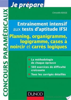 Affiche Entraînement intensif aux tests d'aptitude IFSI - Planning