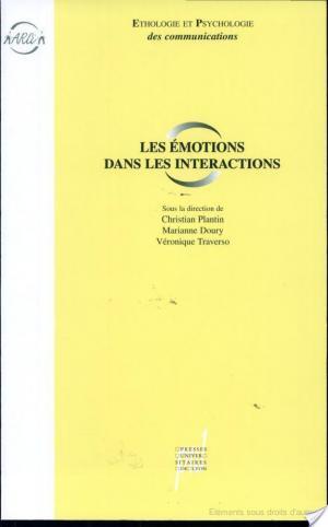 Affiche Les émotions dans les interactions