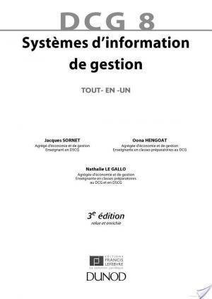 Affiche DCG 8 - Systèmes d'information de gestion - 3e éd.