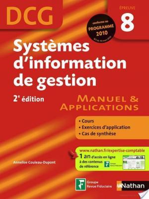 Affiche Systèmes d'information de gestion - 2e édition - DCG - Épreuve 8 - Manuel et Applications