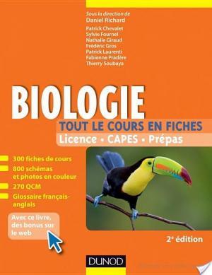 Affiche Biologie -Tout le cours en fiches - 2e éd.