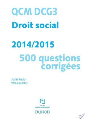 Affiche QCM DCG 3 - Droit social 2014/2015 - 2e éd.