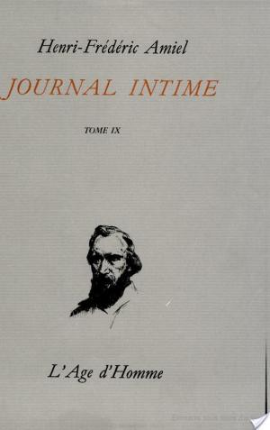 Affiche JOURNAL INTIME -T9- -AGE D HOMME-