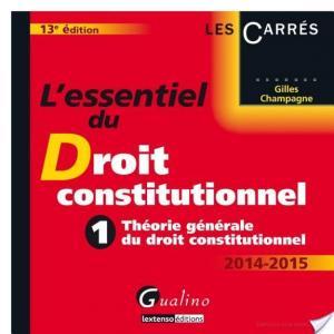 Affiche L'essentiel du droit constitutionnel 2014-2015