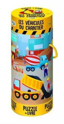 Affiche Les véhicules du chantier-Puzzle géant