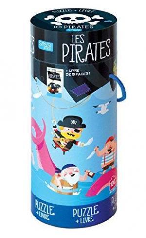 Affiche Les Pirates - puzzle géant et livre